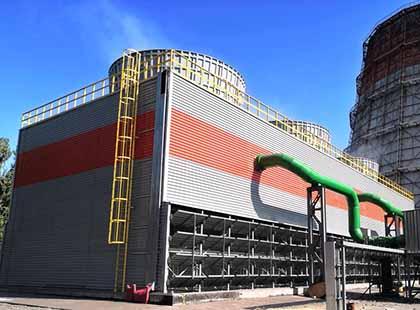 Самая большая вентиляторная градирня в Украине