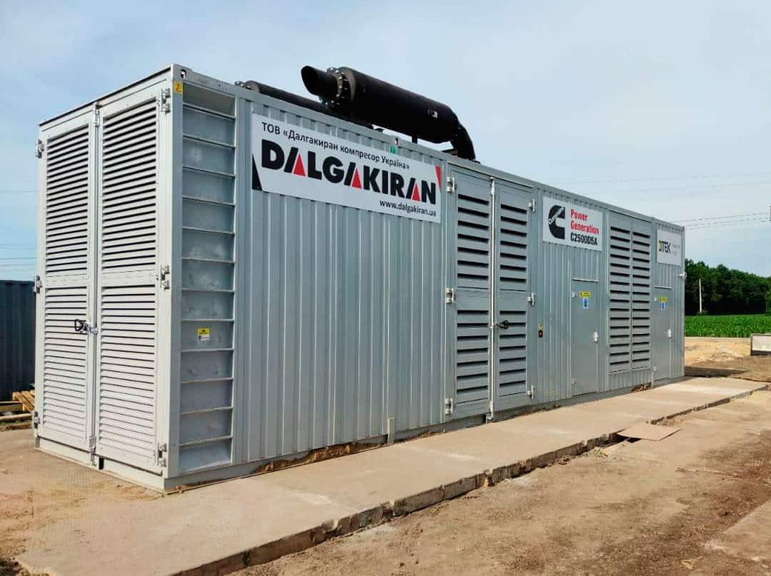 Дизельный генератор 2.5 МВт, 6000 В
